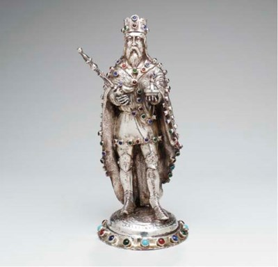 A GERMAN SILVER FIGURE,