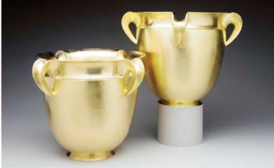 A PAIR OF ITALIAN SILVER-GILT