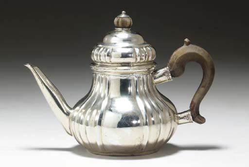 A DANISH SILVER TOY TEAPOT