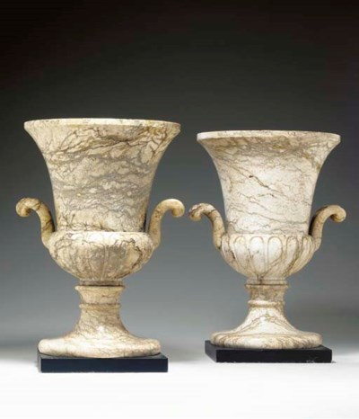 A PAIR OF ALABASTER LAMPS,