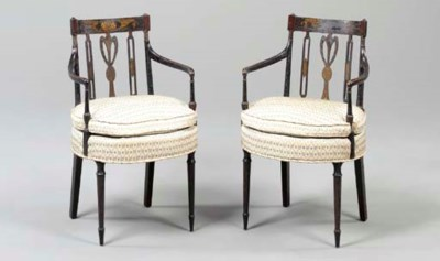 A PAIR OF GEORGE III GILT AND