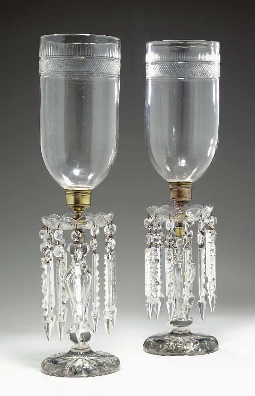 A PAIR OF VICTORIAN CUT-GLASS