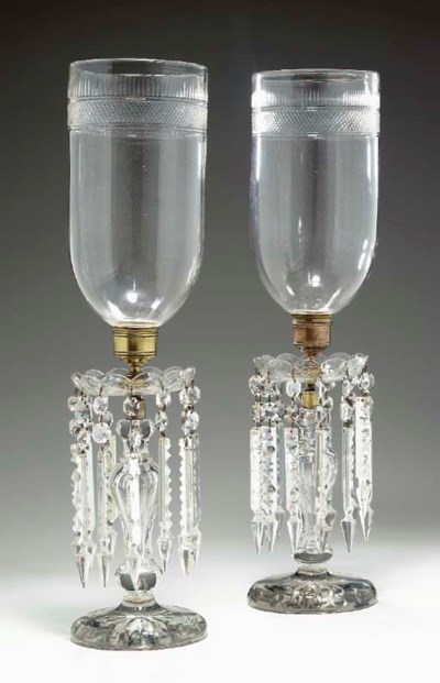 A PAIR OF VICTORIAN CUT-GLASS