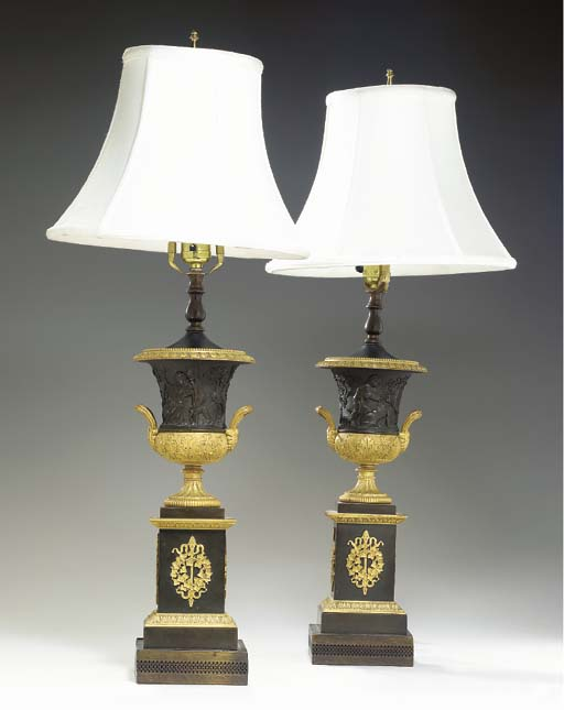 A PAIR OF RESTAURATION STYLE O