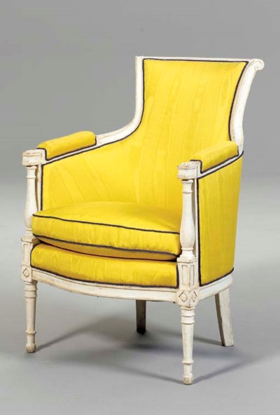 A DIRECTOIRE STYLE WHITE-PAINT