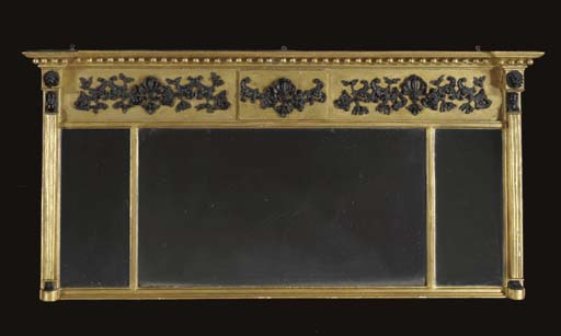 A REGENCY GILTWOOD AND PARCEL-