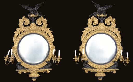 A PAIR OF LATE REGENCY STYLE G