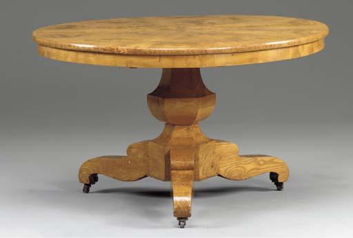 A BIEDERMIER ASH CENTER TABLE,