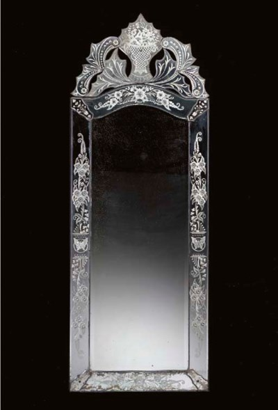 A VENETIAN ROCOCO STYLE ETCHED