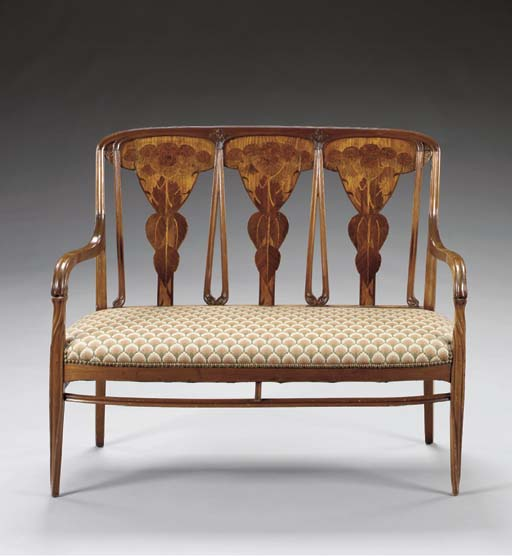 A MARQUETRY SETTEE
