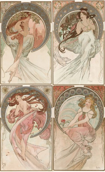 'THE ARTS,' A SET OF FOUR LITH