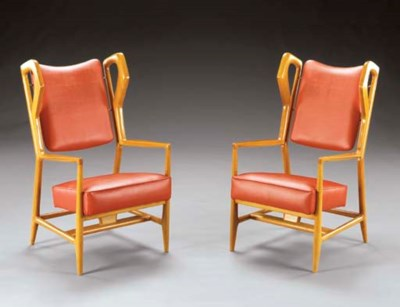 A PAIR OF ASH OPEN ARM CHAIRS