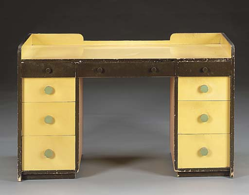 A LACQUERED WOOD DESK