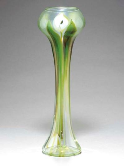 A 'CALLA LILY' FAVRILE GLASS P