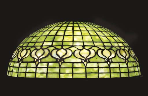 A 'POMEGRANATE' LEADED GLASS S
