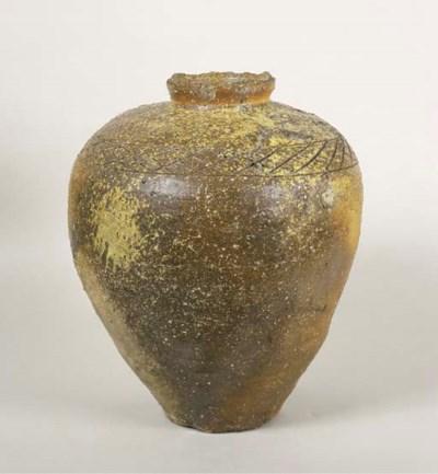 A Large Stoneware Jar