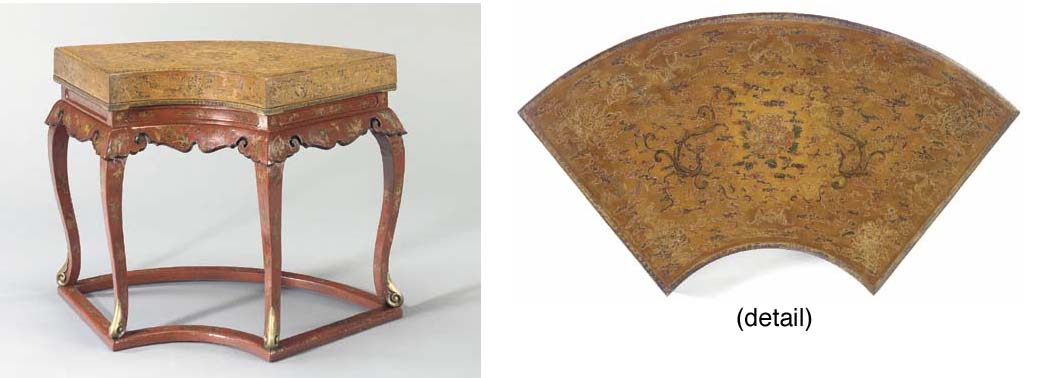 Terrific A Rare Large Lacquer Fan Shaped Box And Cover Yongzheng Gmtry Best Dining Table And Chair Ideas Images Gmtryco