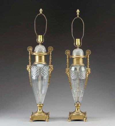 A pair of Empire style ormolu-