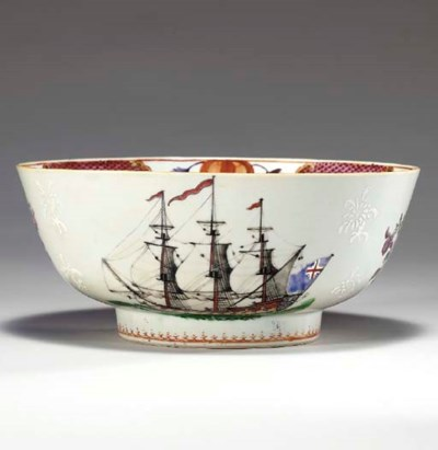 A CHINESE EXPORT SHIPPING BOWL