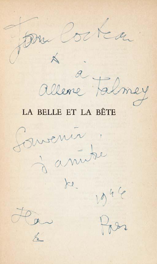 COCTEAU, Jean (1889-1963). La