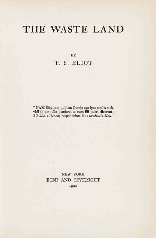 ELIOT, T.S. (1888-1965). The W
