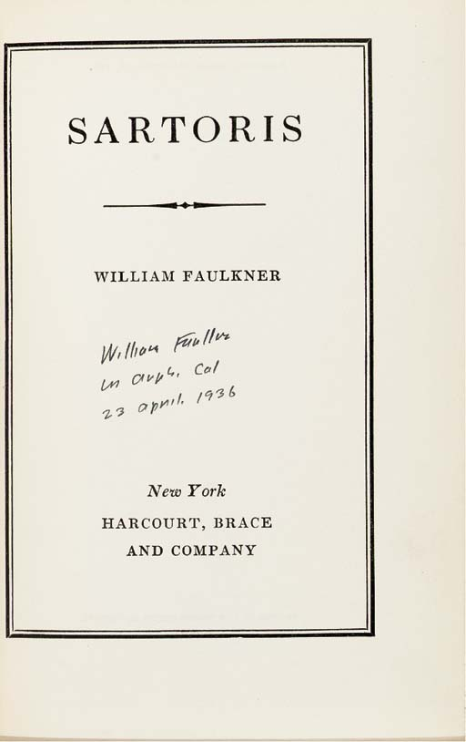 FAULKNER, William (1897-1962).