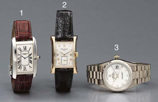 Rolex. A fine 18K white gold s