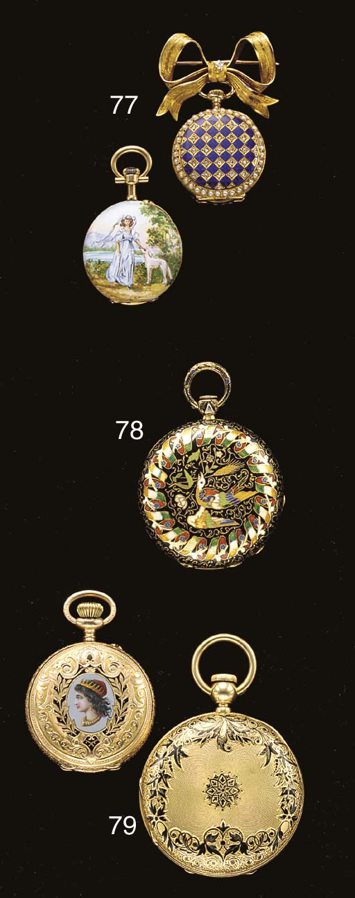 Swiss. A lot of two 18K gold,
