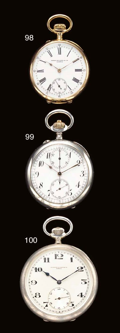 Breguet. A rare silver and pin