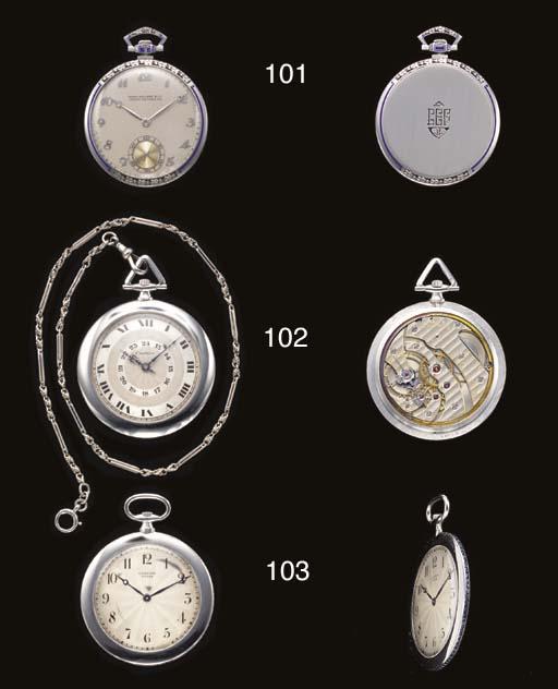 Cartier. A fine platinum openf