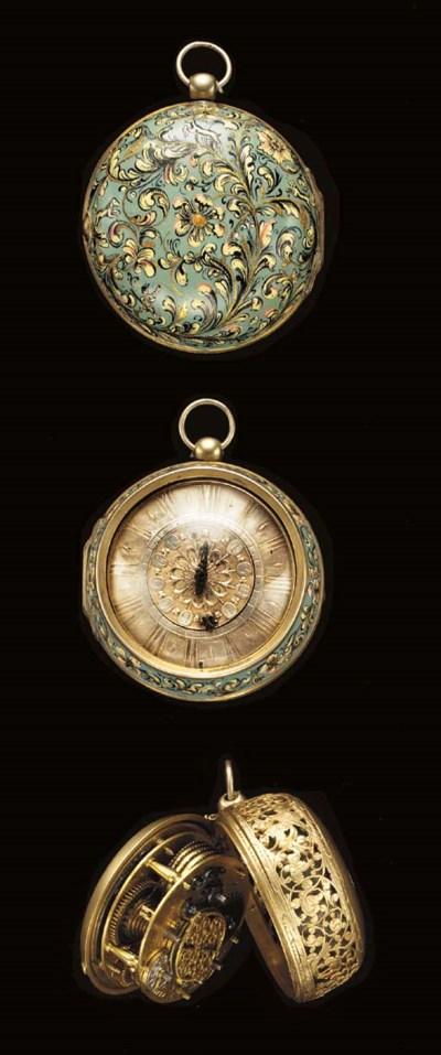 Langlois. A rare gilt metal an