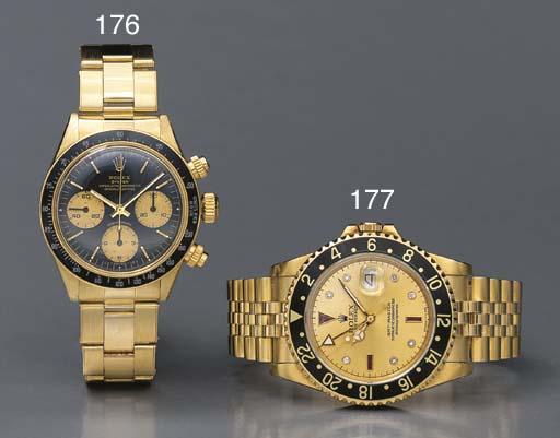 Rolex. A fine 18K gold, ruby a