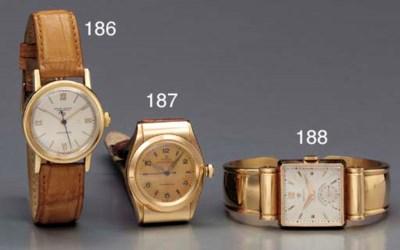 Rolex. A rare 18K pink gold sq