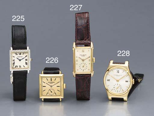 Cartier. An 18K white gold squ