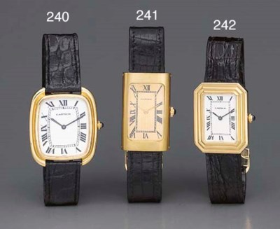 Cartier. An 18K gold curved re
