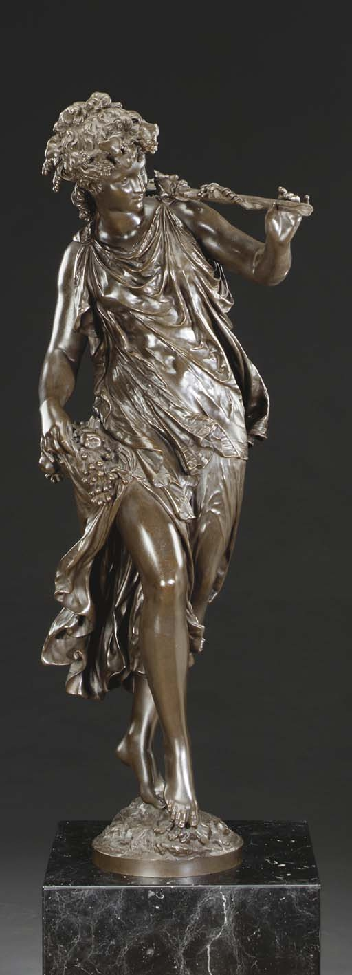 A French bronze figure of a Ba