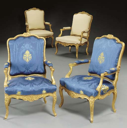 A set of four Louis XV style g