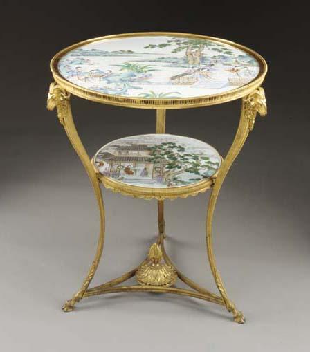A Louis XVI style ormolu and F
