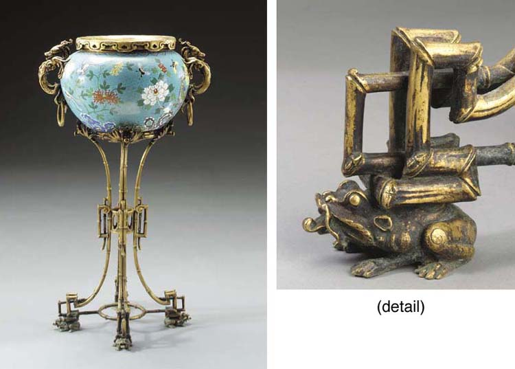 A French Chinoiserie style orm