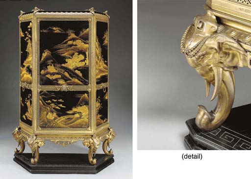 A large French Chinoiserie sty