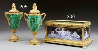 A French ormolu and enamelled