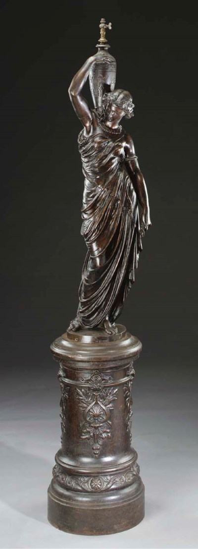 A French bronze-patinated cast