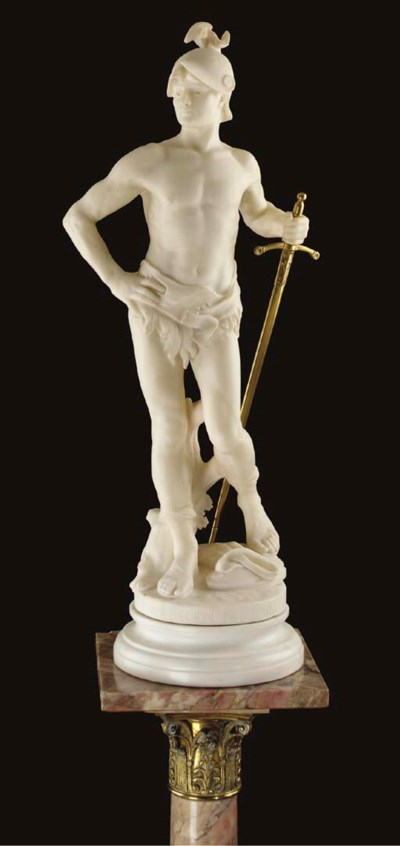 A French marble figure of a so