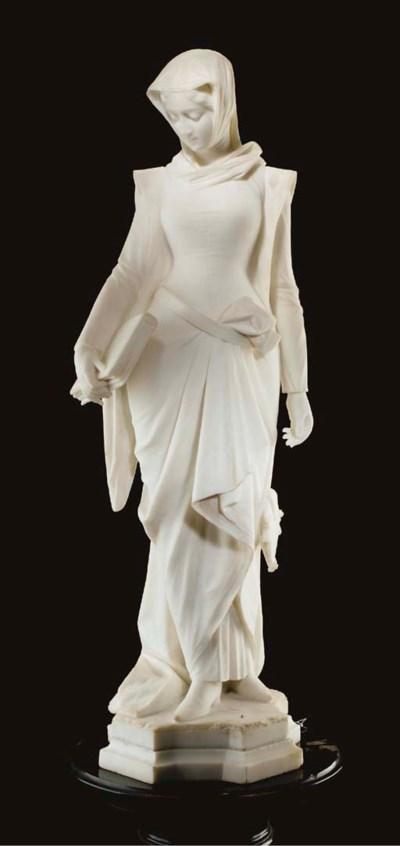 An Italian marble figure of Be