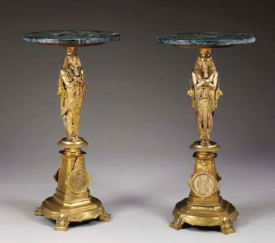 A pair of Napoleon III Neo-Egy