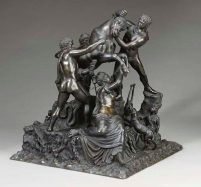An Italian bronze group of the
