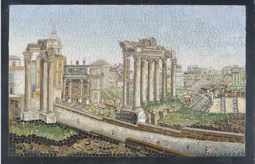 A Roman micromosaic panel