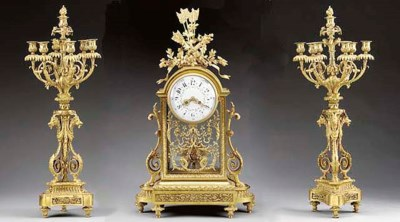 A Louis XVI style ormolu three