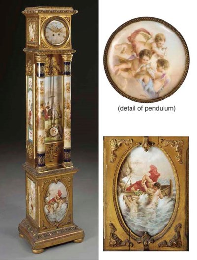 A giltwood and Vienna style po