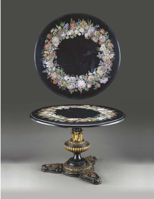 A Roman micromosaic table top,